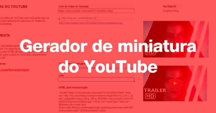 Gerador de miniatura do YouTube